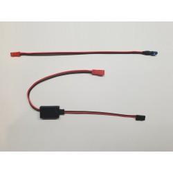 Transpondeur avec LED filaire